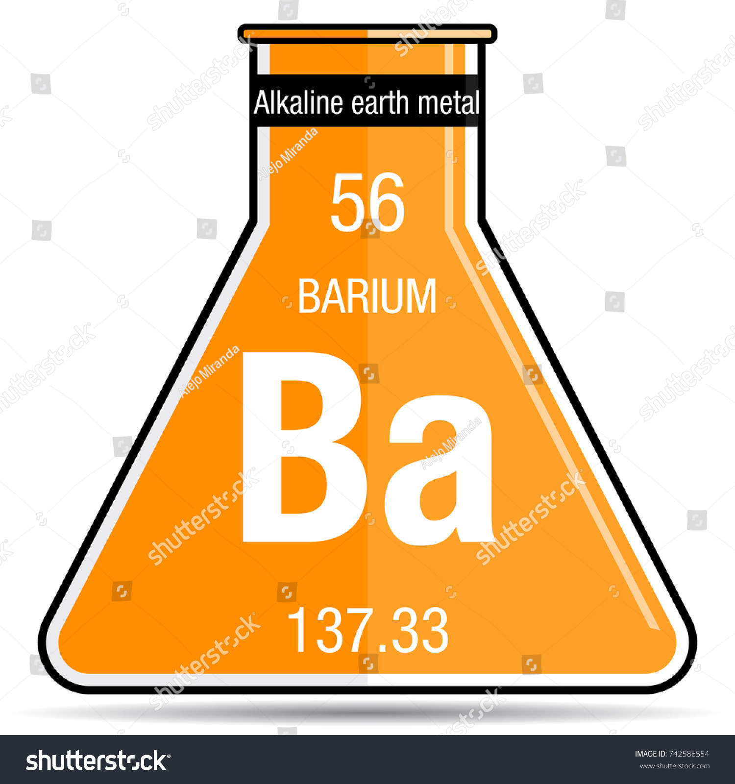 Barium symbol on chemical flask element stock vector 742586554 barium symbol on chemical flask element number 56 of the periodic table of the elements biocorpaavc Images