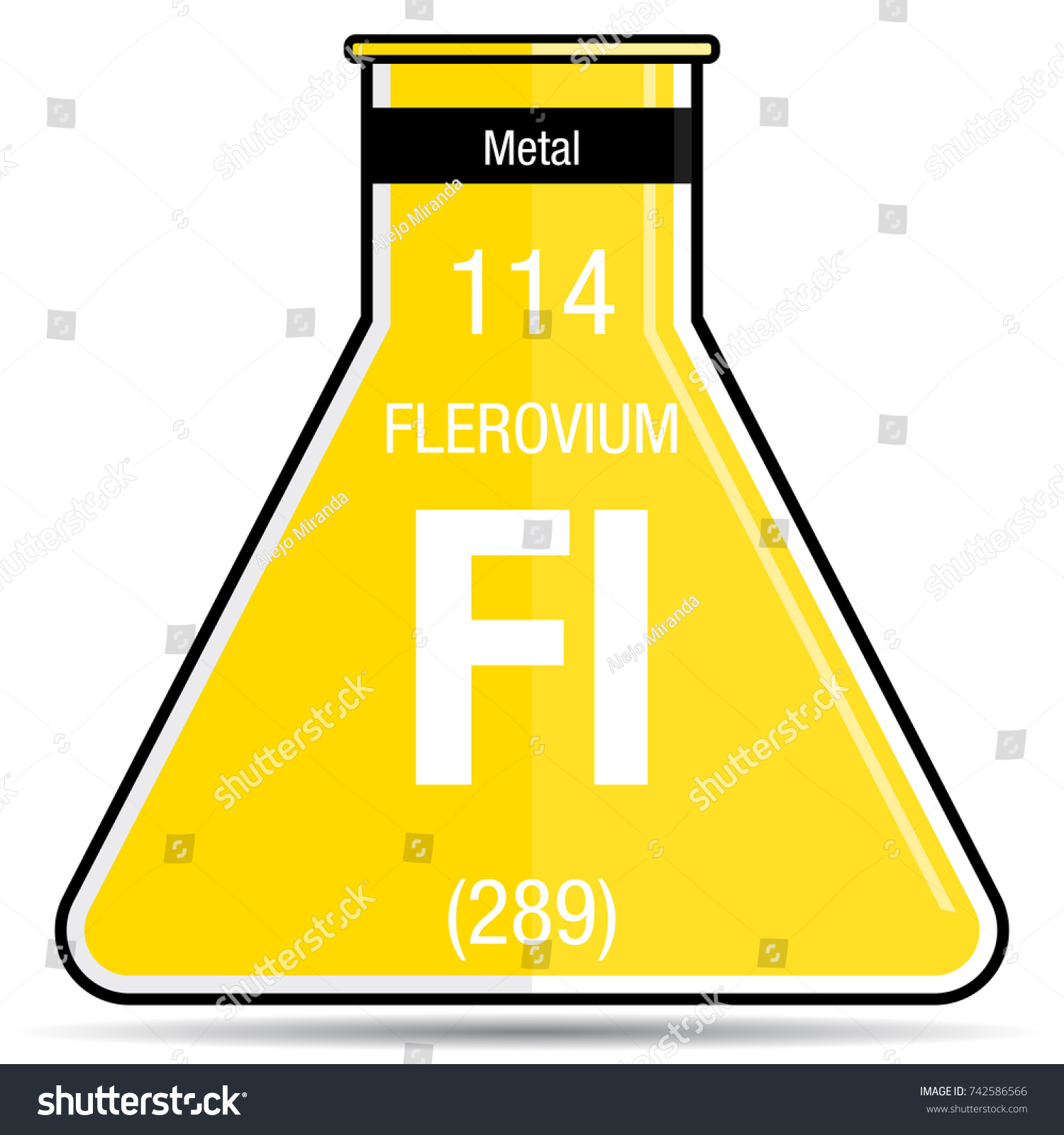 Flerovium symbol on chemical flask element stock vector 742586566 flerovium symbol on chemical flask element number 114 of the periodic table of the elements gamestrikefo Images