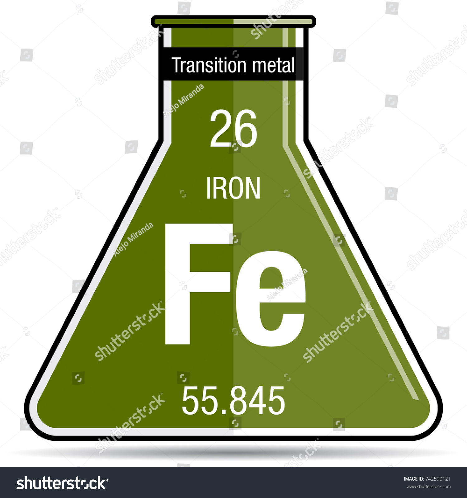 Iron symbol in periodic table image collections periodic table periodic table symbol for iron images periodic table images iron symbol on chemical flask element stock gamestrikefo Image collections