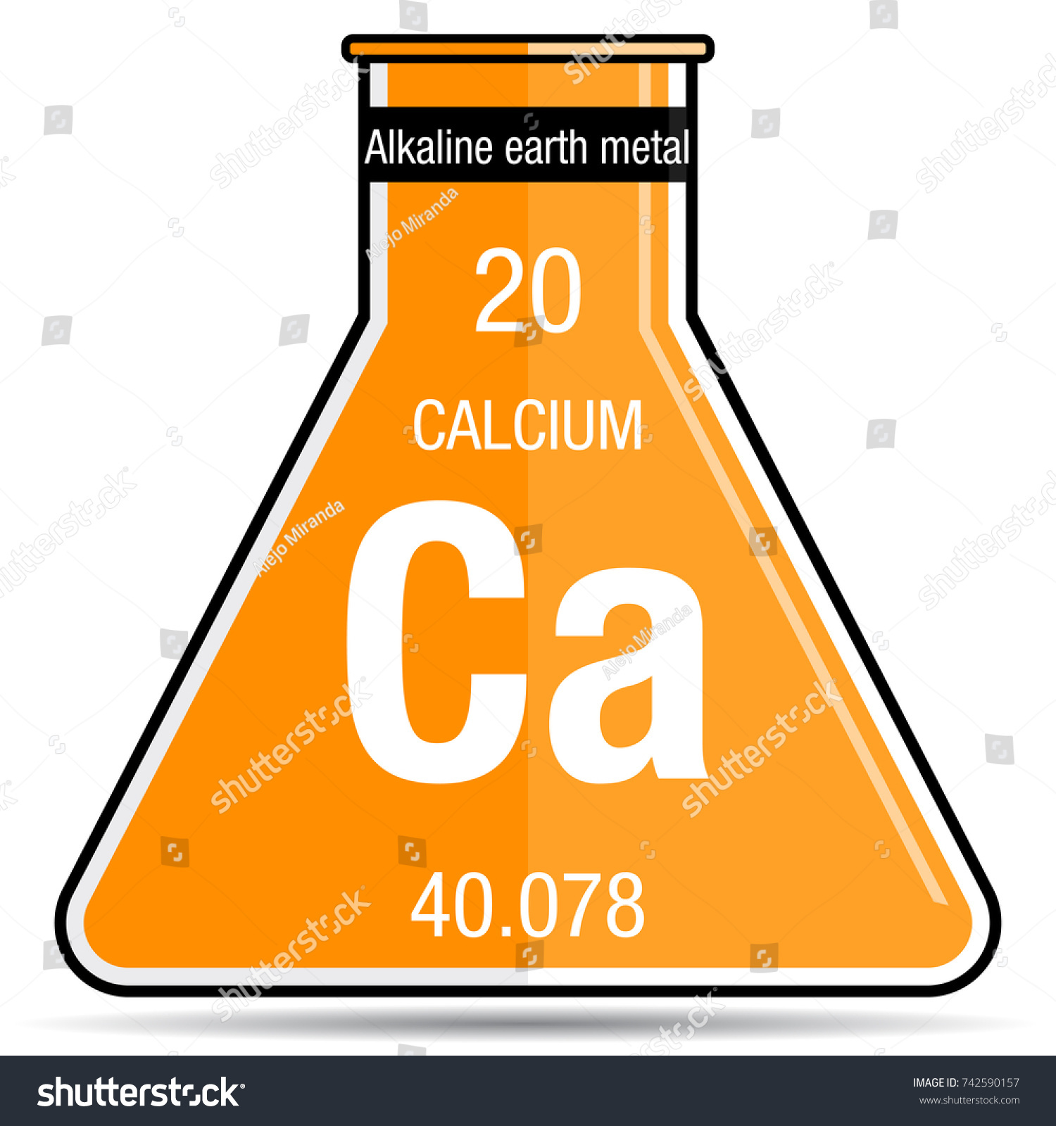 Calcium symbol on chemical flask element stock vector 742590157 calcium symbol on chemical flask element number 20 of the periodic table of the elements buycottarizona Image collections