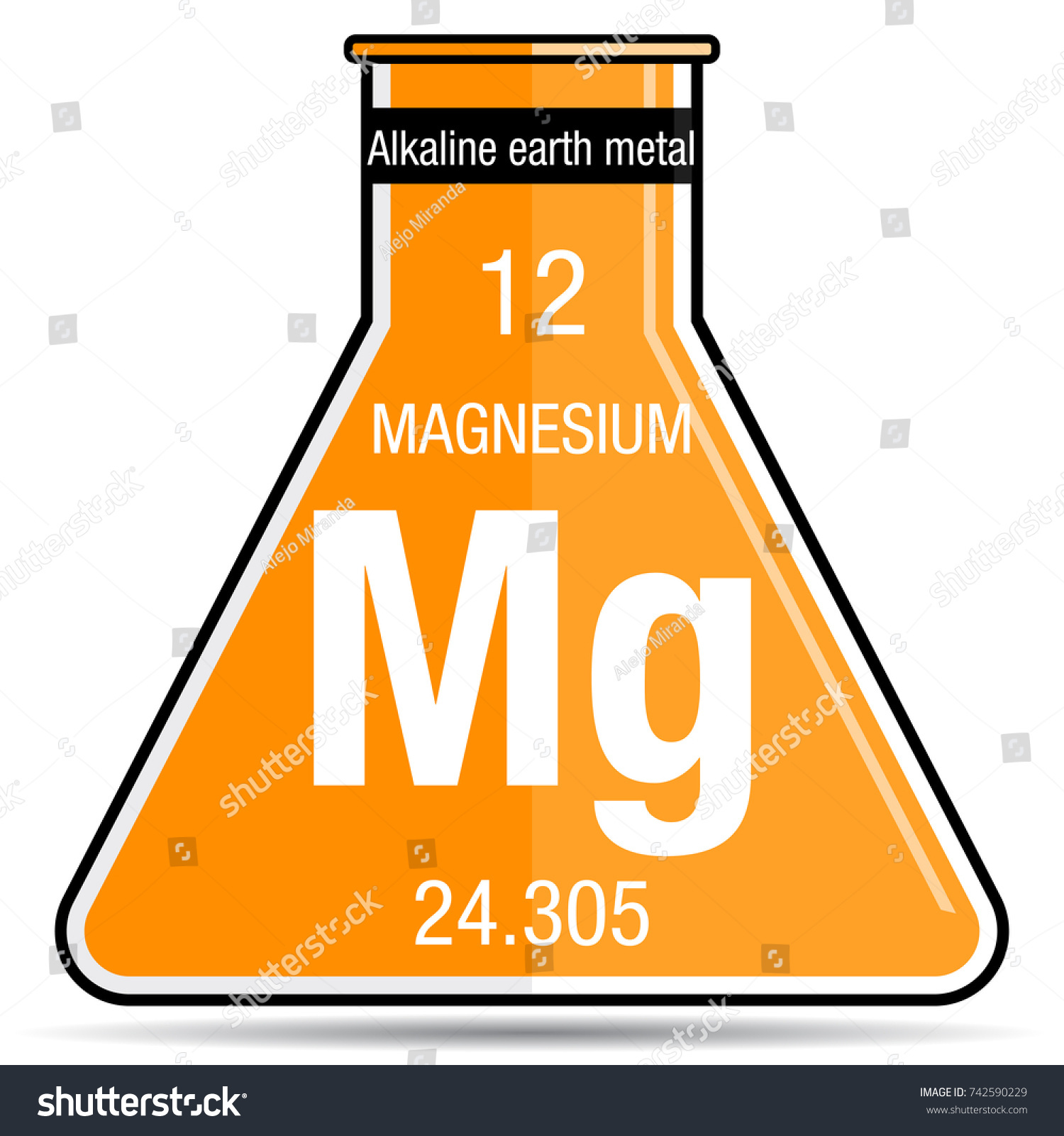 Magnesium symbol on chemical flask element stock vector 742590229 magnesium symbol on chemical flask element number 12 of the periodic table of the elements urtaz Images