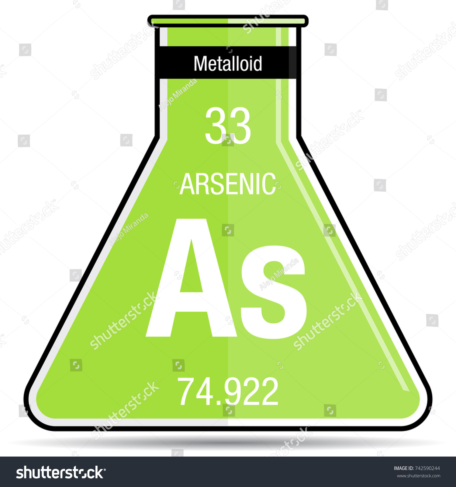 Arsenic symbol on chemical flask element stock vector 742590244 arsenic symbol on chemical flask element stock vector 742590244 shutterstock biocorpaavc Image collections
