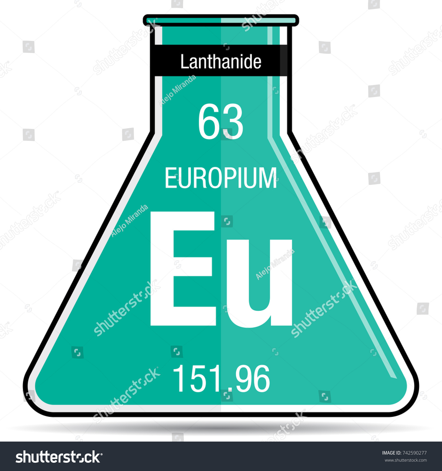 Europium Symbol On Chemical Flask Element Stock Vector (Royalty Free ...