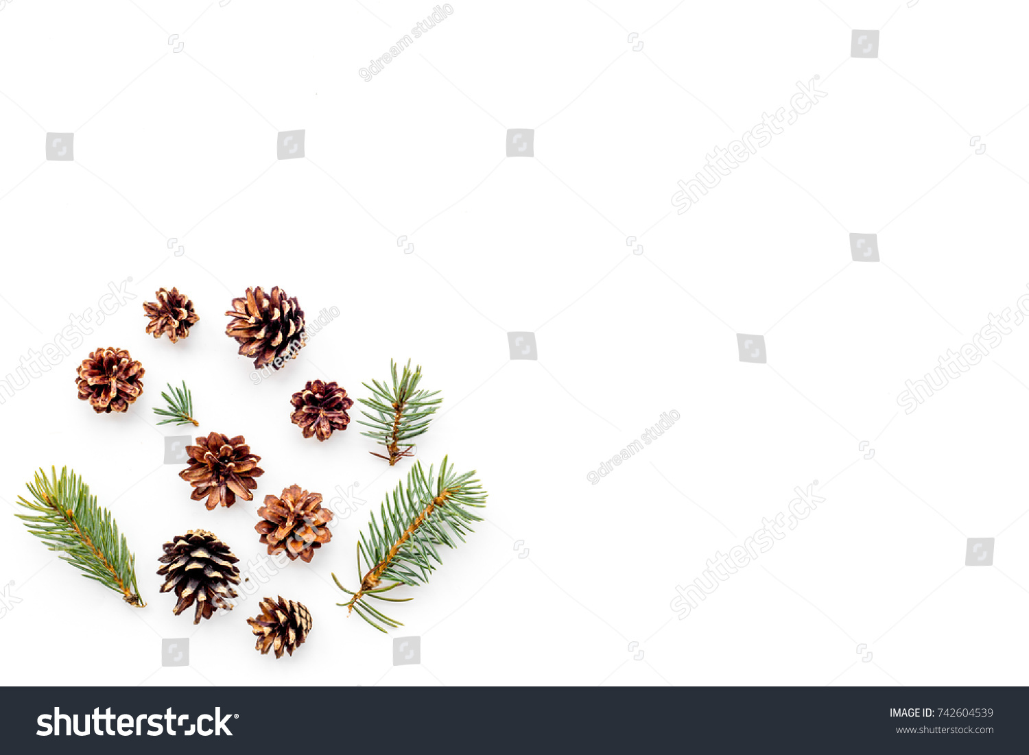 New year symbols pattern spruce branches stock photo 742604539 new year symbols pattern spruce branches and cones on white background top view copyspace biocorpaavc Image collections