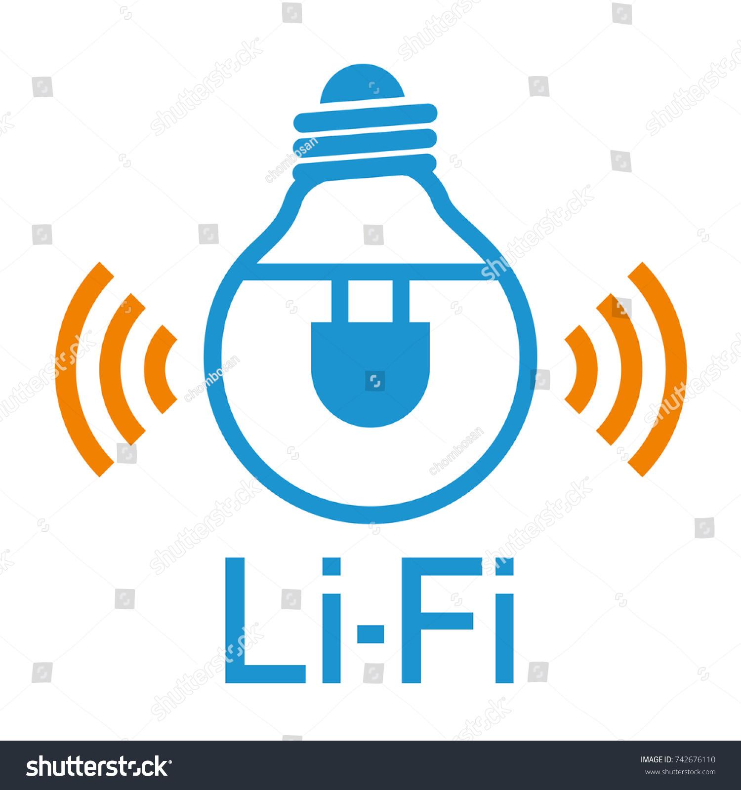 Li Fi Light Fidelity Wireless Communication Technology Stock Photo ...