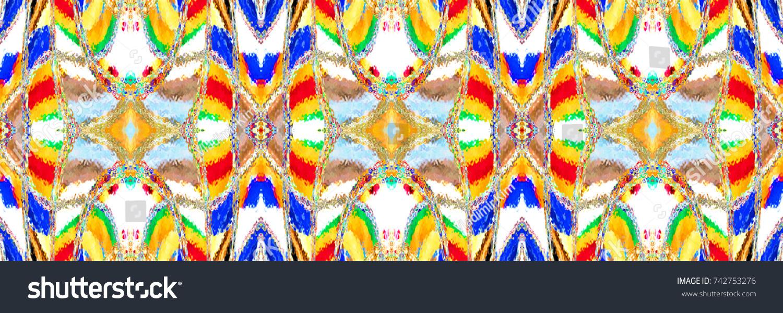 Colorful horizontal kaleidoscopic pattern for textile, ceramic tiles ...