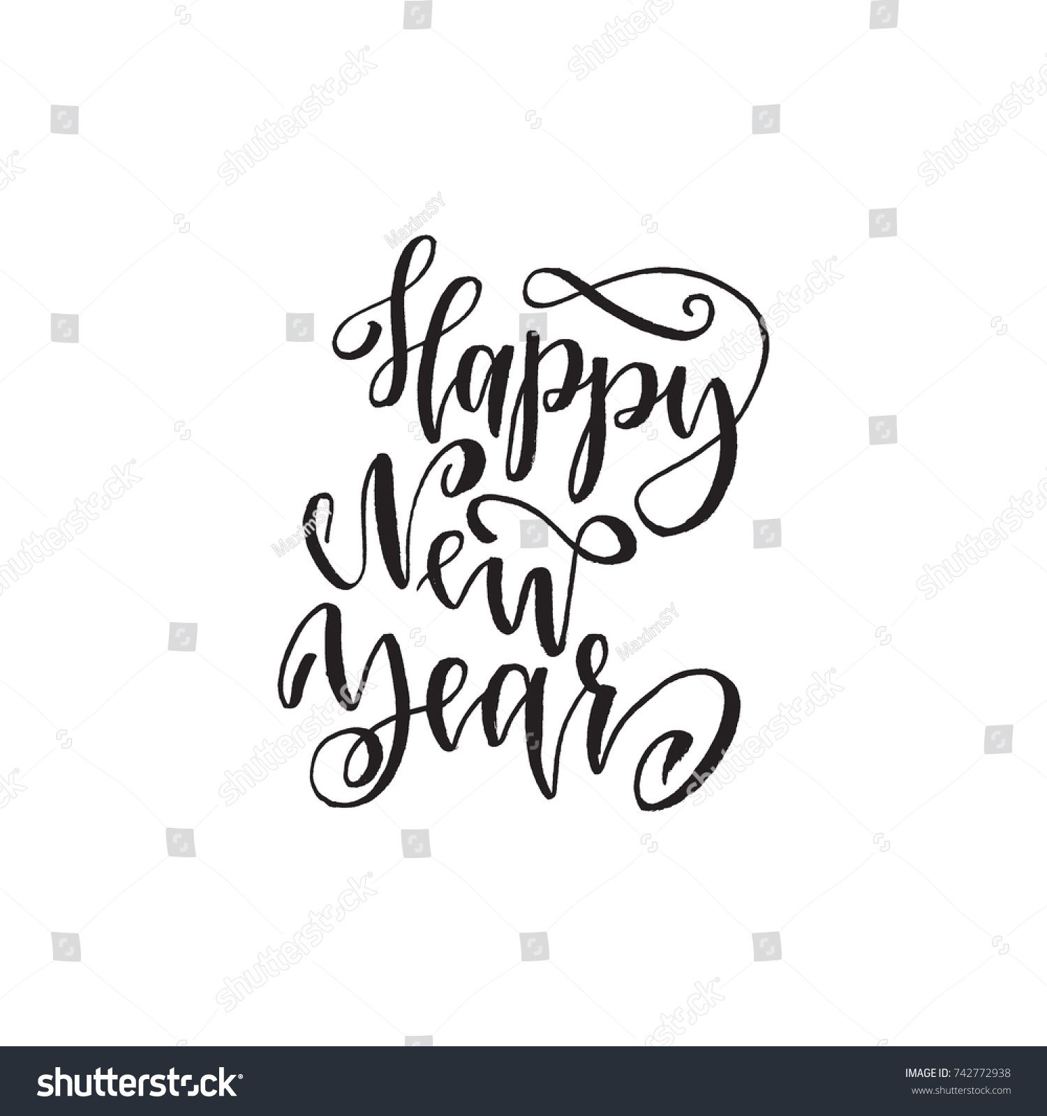 Happy New Year Inspirational Quote About Stock Vector Royalty Free