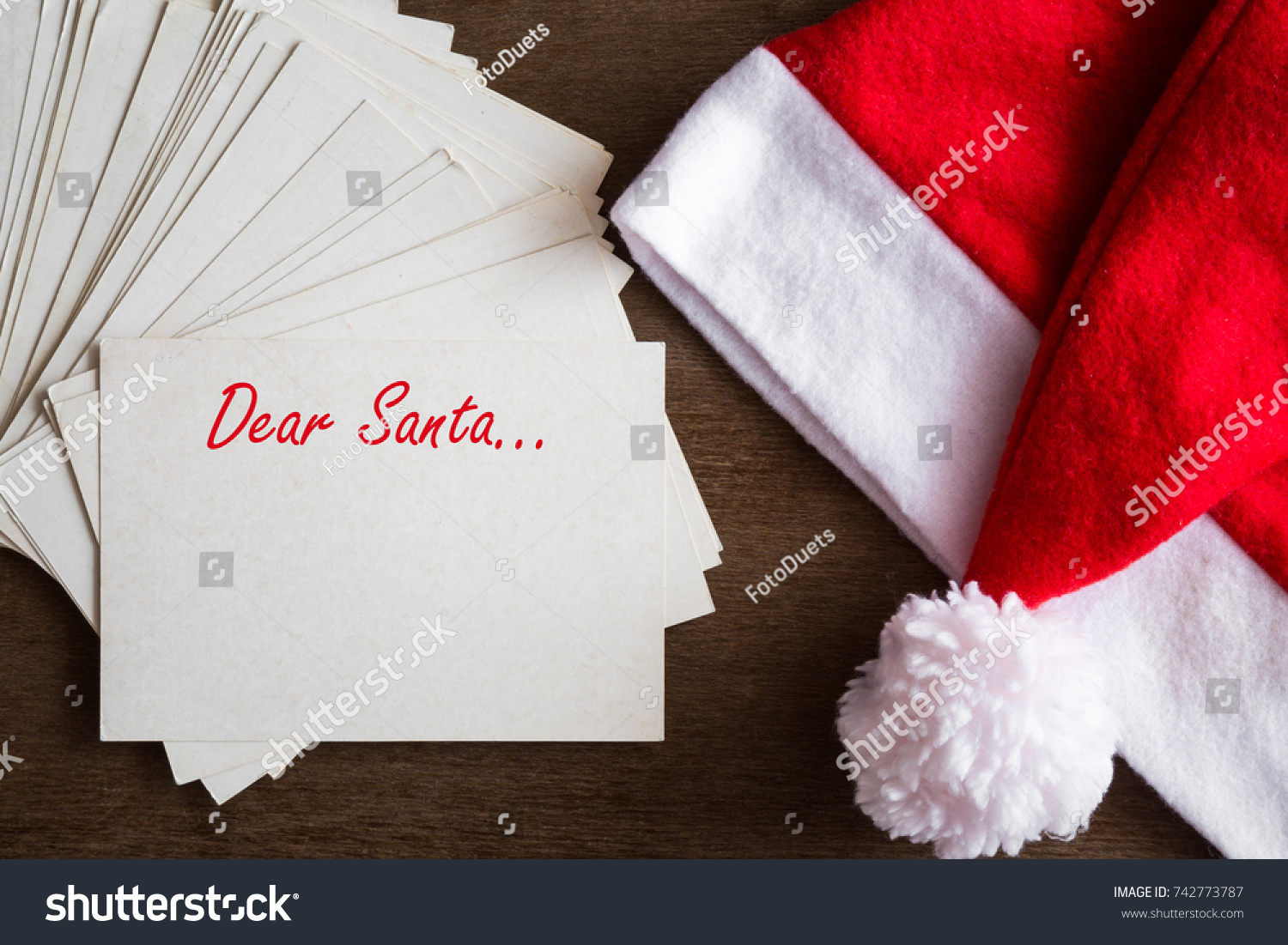 Letters santa claus children adults christmas stock photo letters to santa claus from children and adults christmas time concept empty place for spiritdancerdesigns Image collections