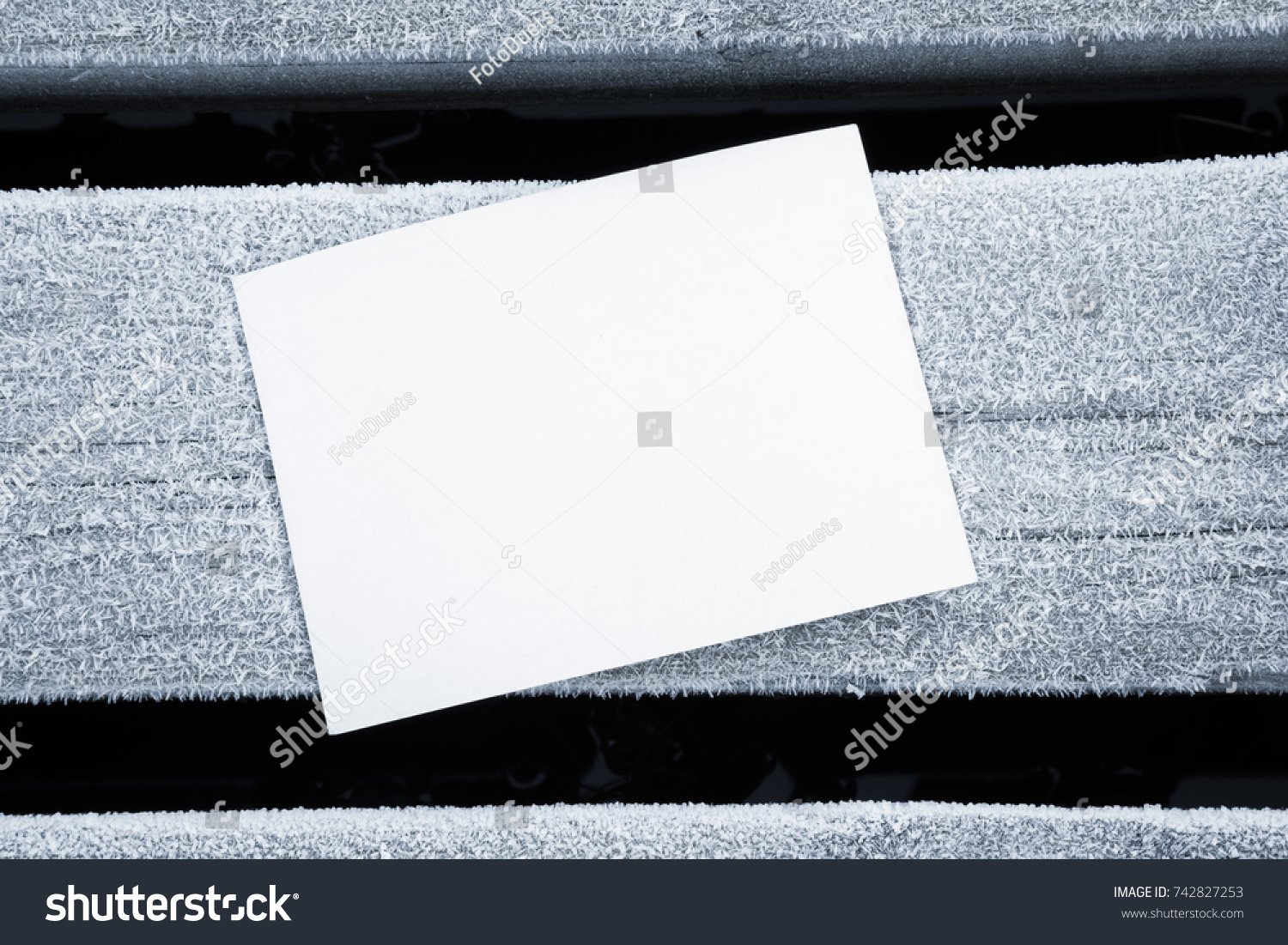 Icy White Blank Greeting Card On Stock Photo Royalty Free