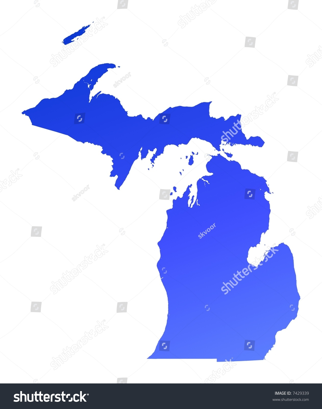 Map Of State Of Michigan With Its Cities Towns And Counties Been - Michigan on a map of the usa