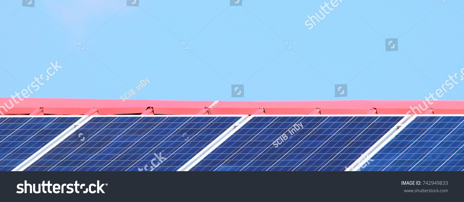 Solar Panels On Red Roof Tile Stock Photo (Royalty Free) 742949833 ...