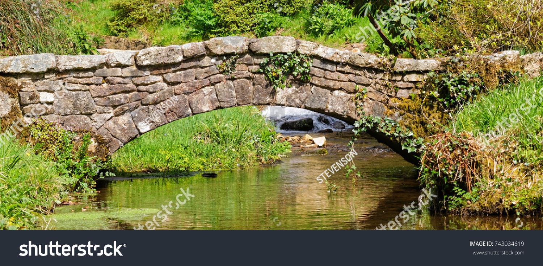 Decorative Stone Garden Bridge Stock Photo 743034619 - Shutterstock