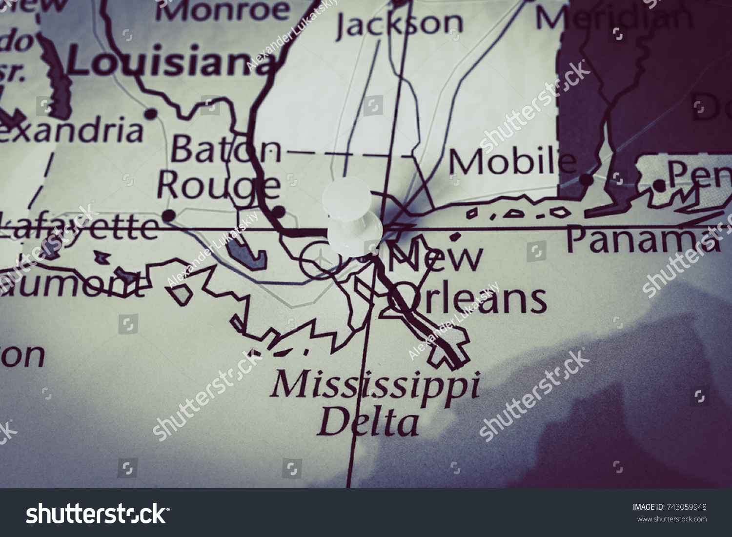 Mississippi On Map United States Stock Photo Edit Now 743059948