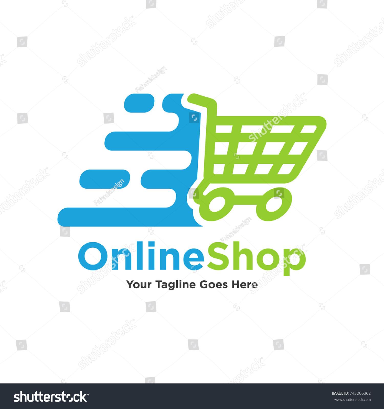 Vector Logo Shopping Trolley Goods Vector Stock Vector Royalty Free