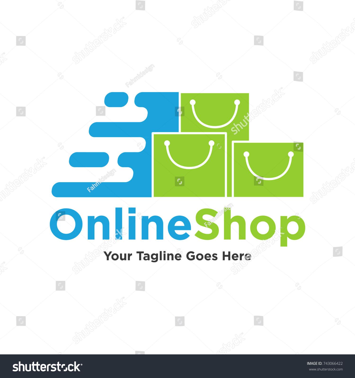 Online Shop Logo Design Vector Online Stock Vector Royalty Free