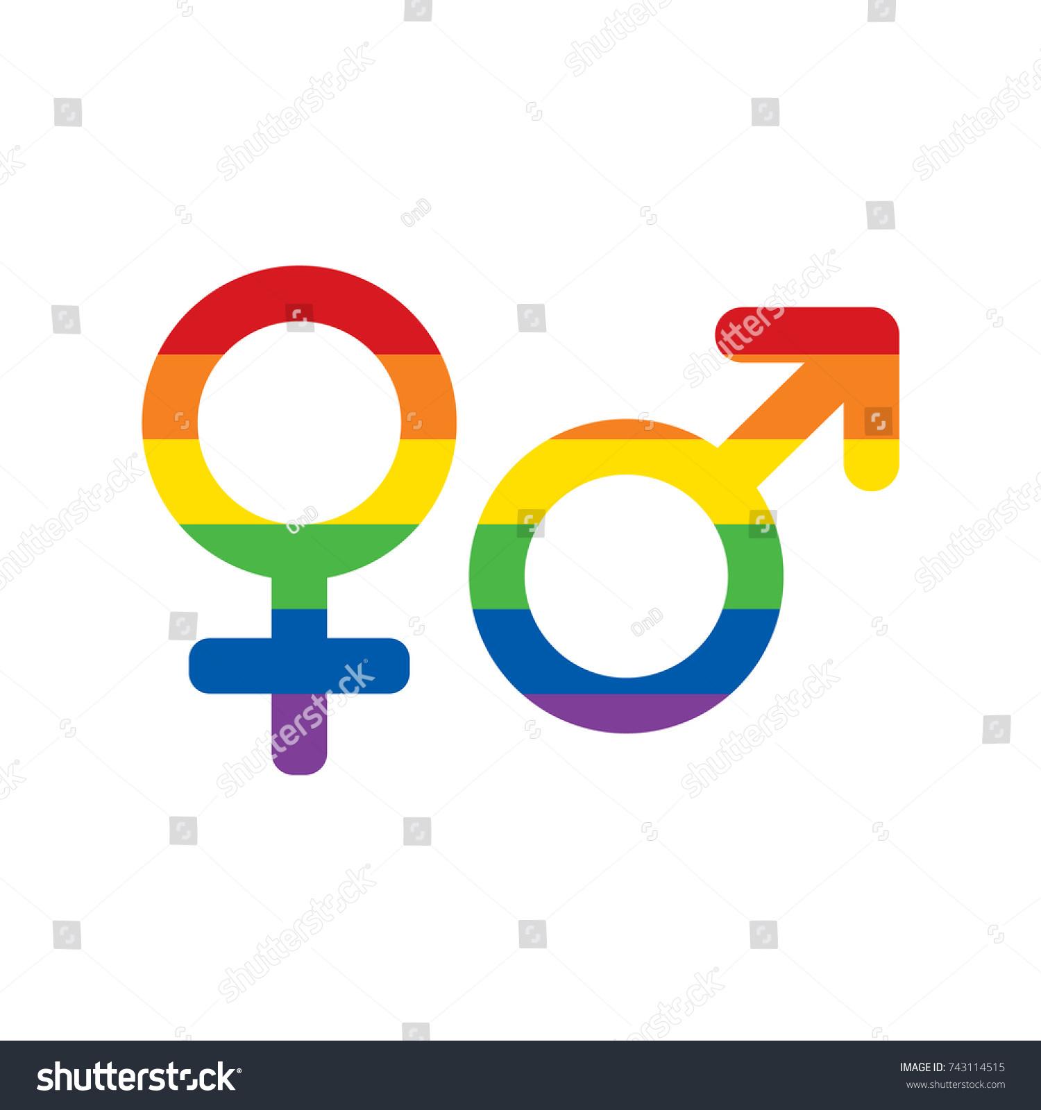 Lgbt rainbow colors mars venus icons stock vector 743114515 lgbt rainbow colors mars and venus icons set gender icons gay and lesbian symbol buycottarizona
