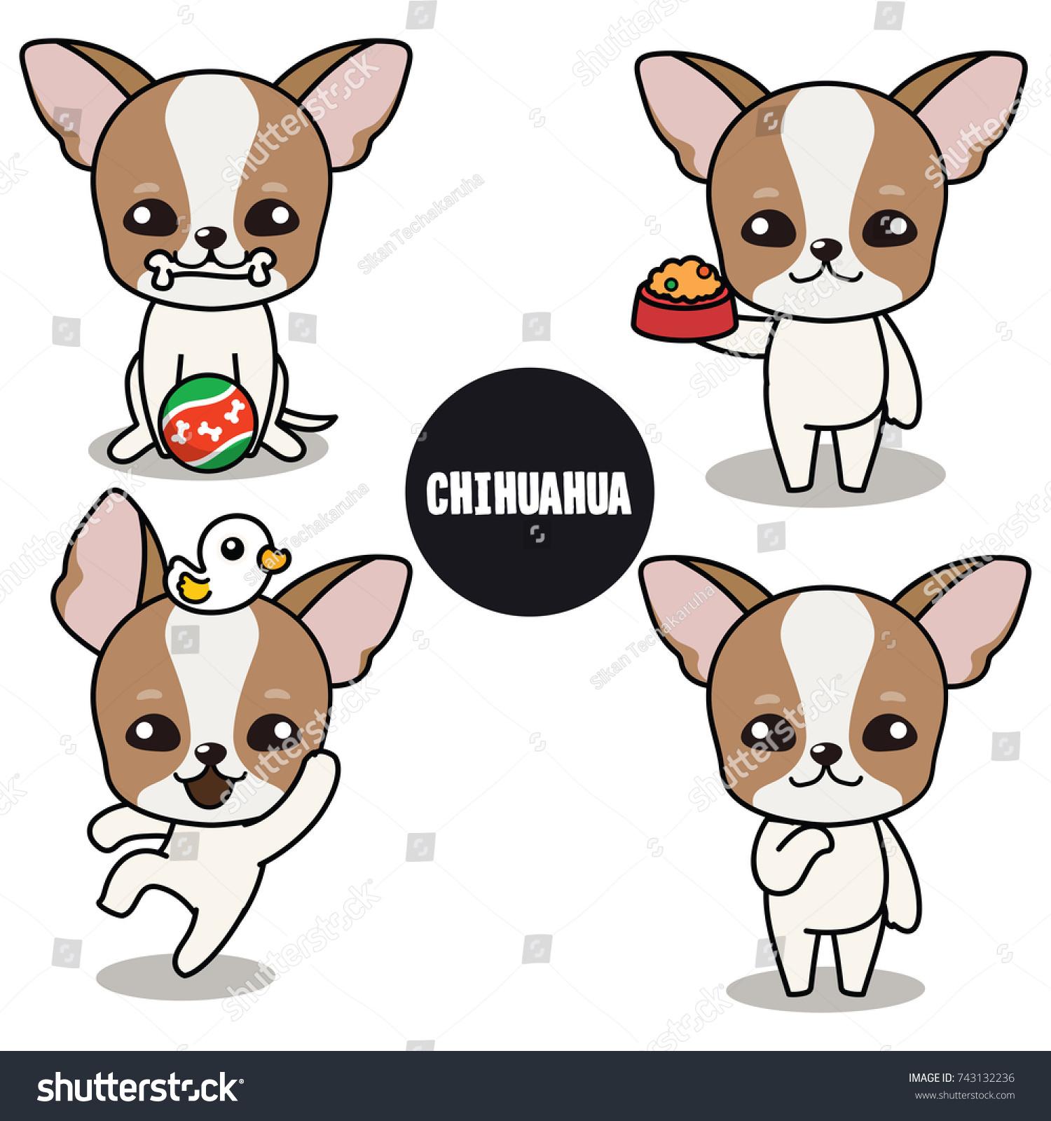 Character Design Brown Chihuahua Short Coat Vector de stock743132236 ...
