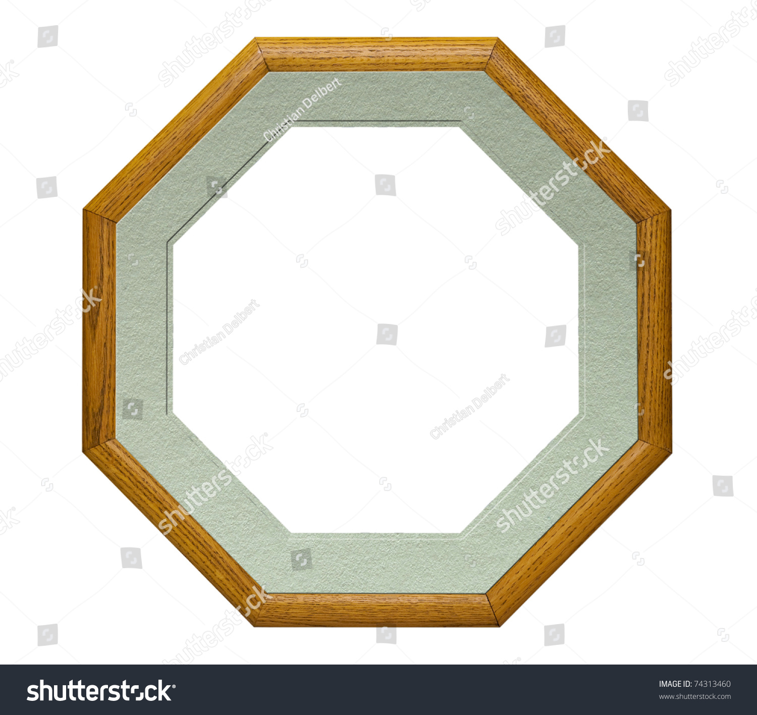 Picture Frame Shape Octagon Light Green Stock Photo (Royalty Free ...
