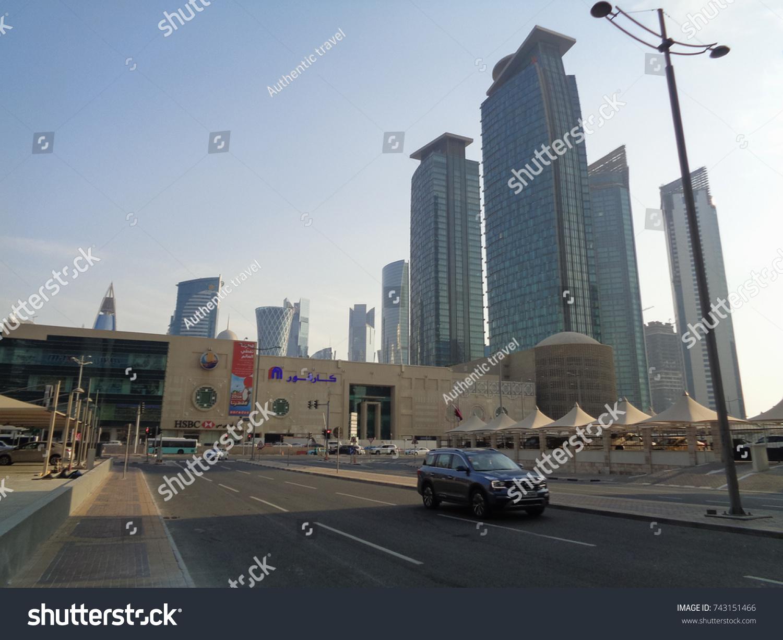 Doha Qatar September 2 2017 Highrise Stock Photo (Edit Now
