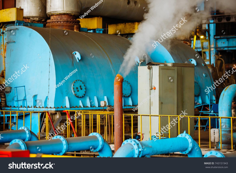 Steam Turbine Power Generator Industrial Thermal Stock Photo (Edit ...