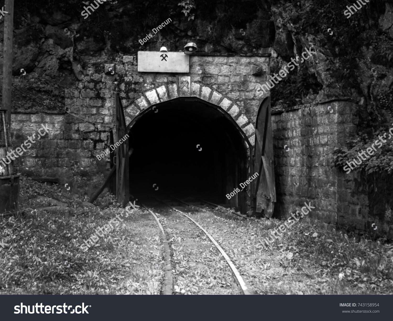 Entrance Old Abandoned Mine Shaft Stock Photo (Edit Now) 743158954
