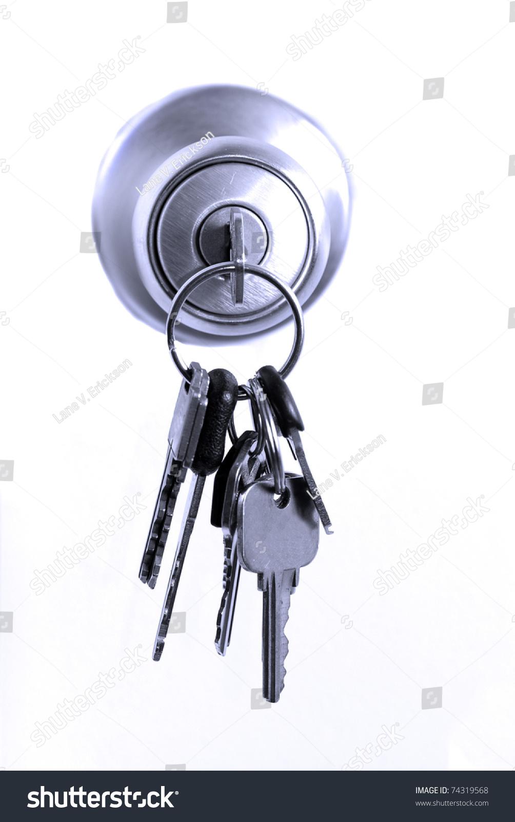 Keys Lock Hanging Door Knob Stock Photo 74319568 Shutterstock