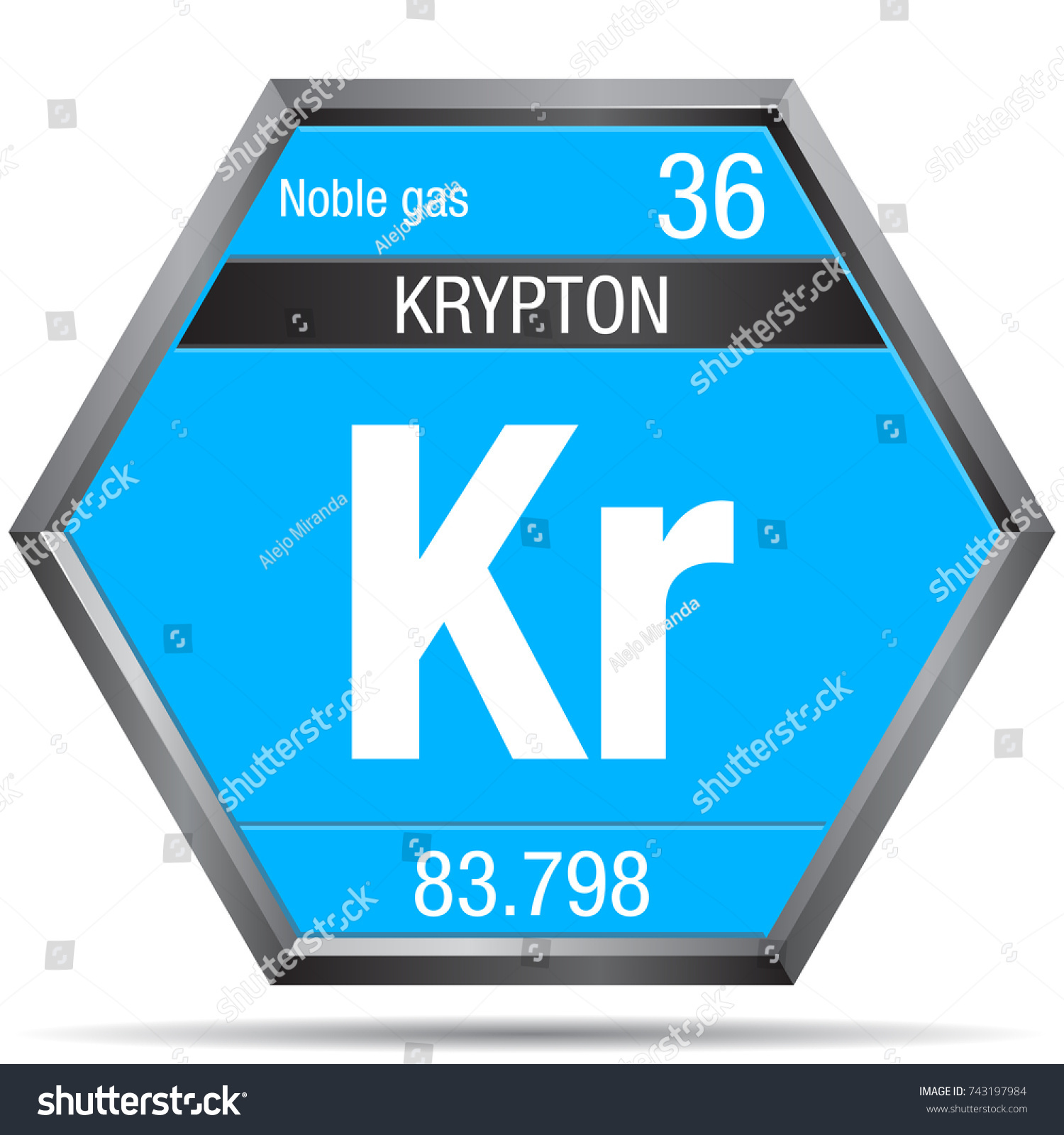 Krypton symbol form hexagon metallic frame stock vector 743197984 krypton symbol in the form of a hexagon with a metallic frame element number 36 buycottarizona