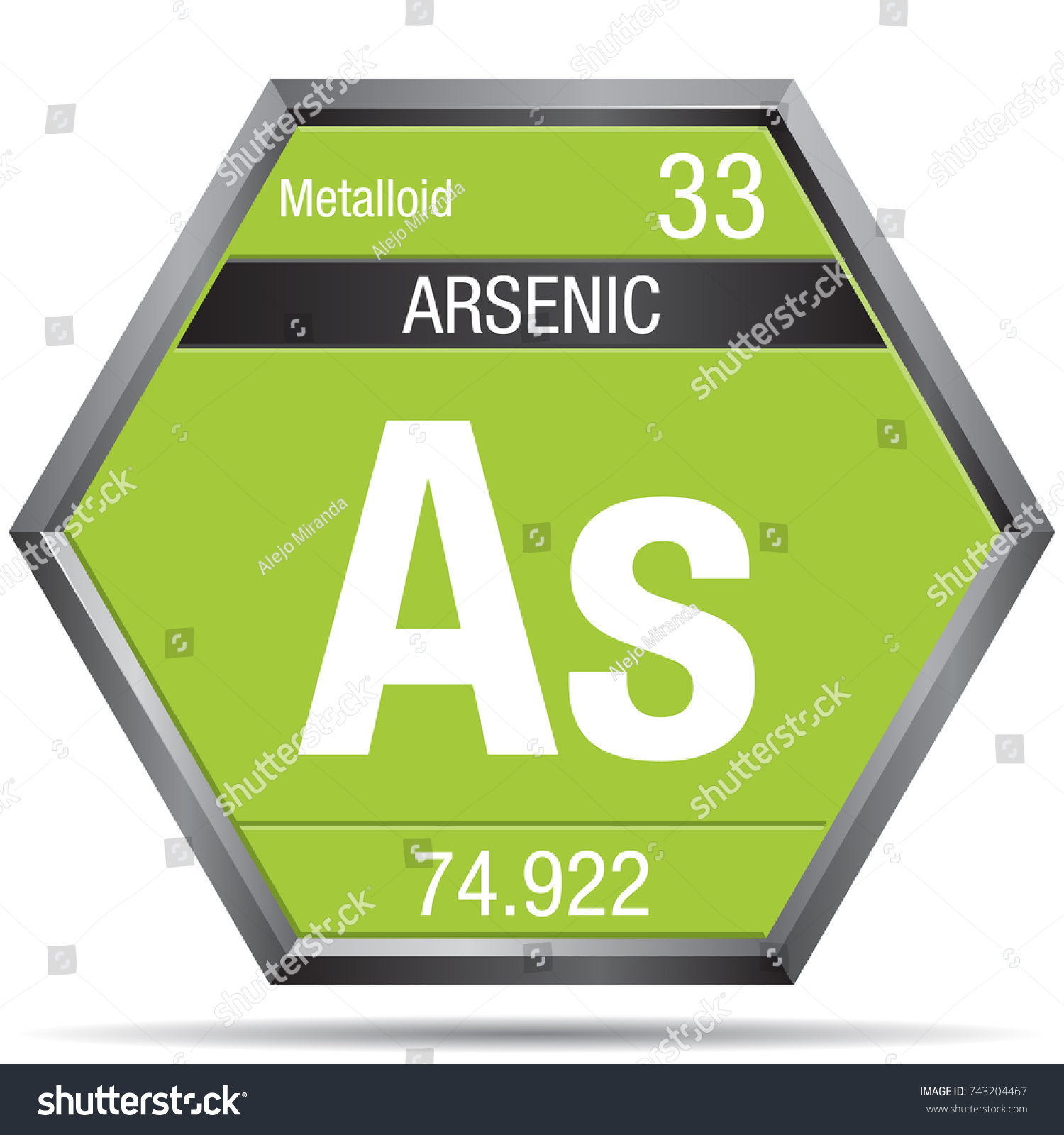 Arsenic symbol form hexagon metallic frame stock vector 743204467 arsenic symbol in the form of a hexagon with a metallic frame element number 33 biocorpaavc Image collections