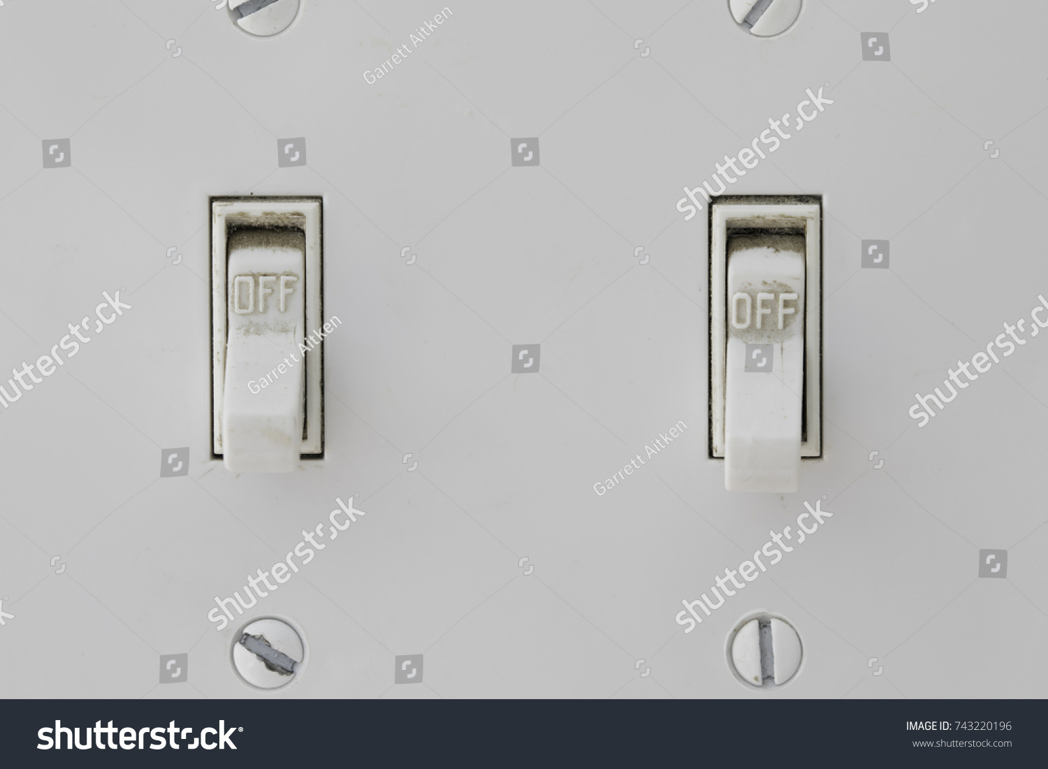 Two Light Switches Both Shown Off Stock Photo (Edit Now)- Shutterstock