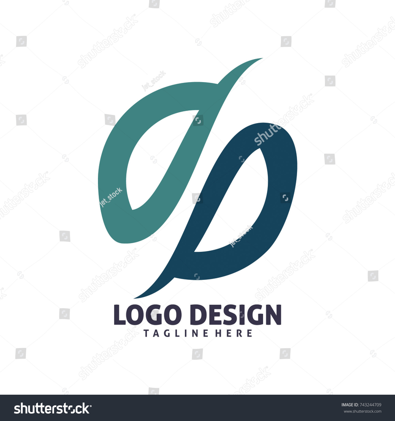 Circle Half Infinity Logo Design Stock Vector Royalty Free