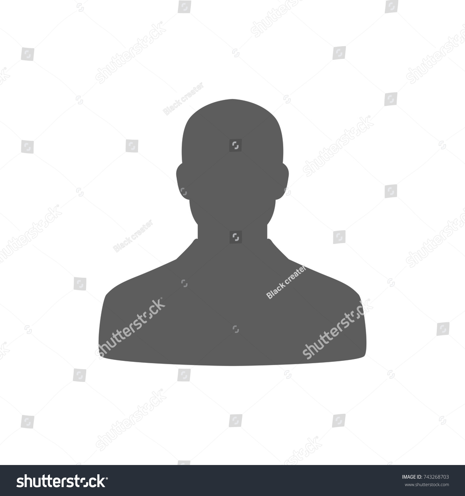 Person Man Icon In Trendy Flat Style Isolated On White Background