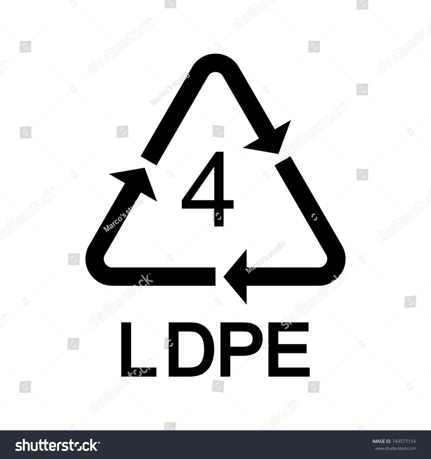 Plastic recycling symbol ldpe 4 vector stock vector 743577154 plastic recycling symbol ldpe 4 vector icon biocorpaavc Choice Image