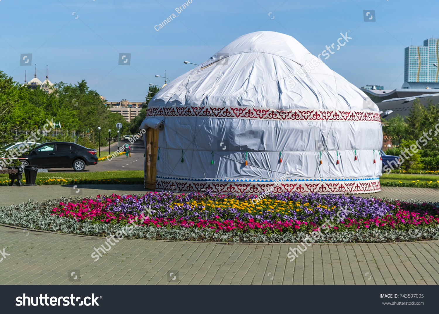 Tent House Built White Canvas Native Stock Photo 743597005 - Shutterstock & Tent House Built White Canvas Native Stock Photo 743597005 ...