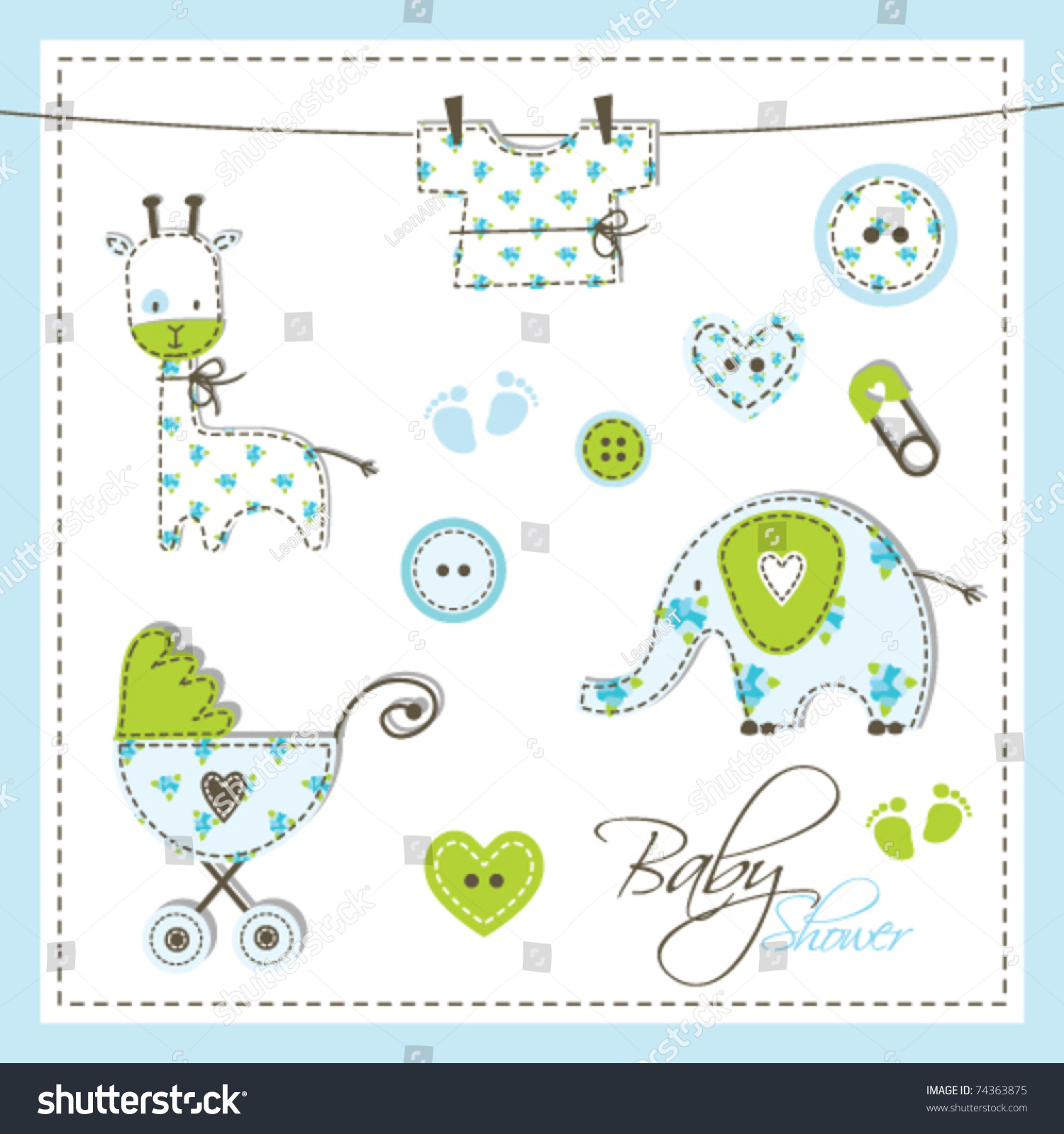 baby boy shower drawingsfor baby shower invitation card scrapbook