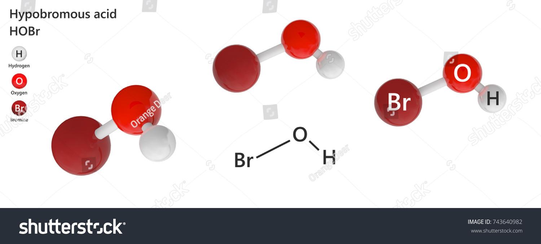 Hypobromous Acid Very Weak Acid Formula Stock Illustration