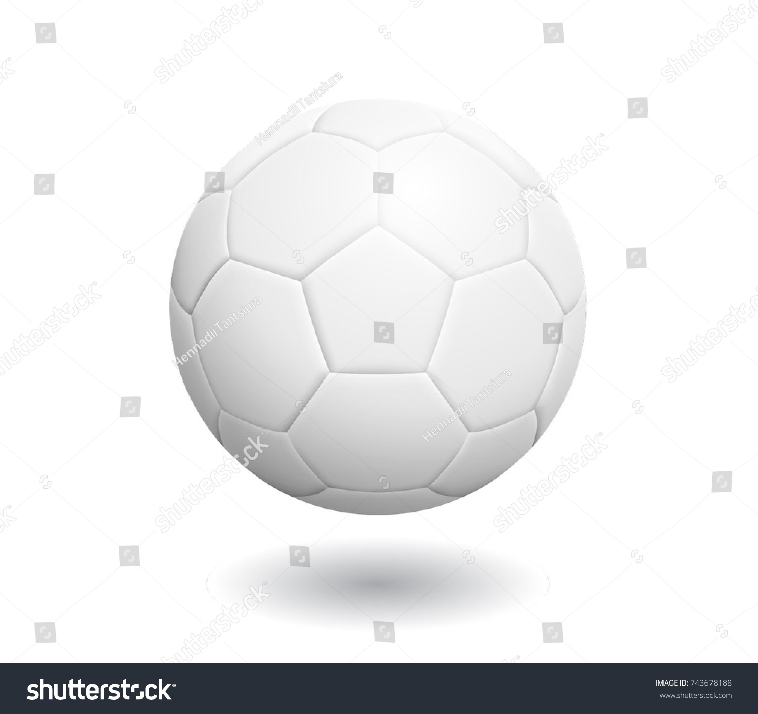 Soccer Ball With Classic Design Isolated On White Background. Vector Illustration.