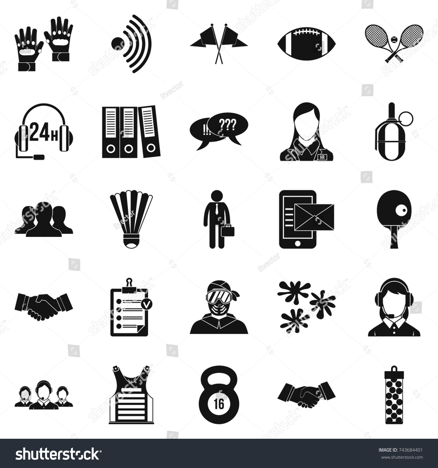 Coach Icons Set Simple Set 25 Stock Vector Royalty Free 743684401