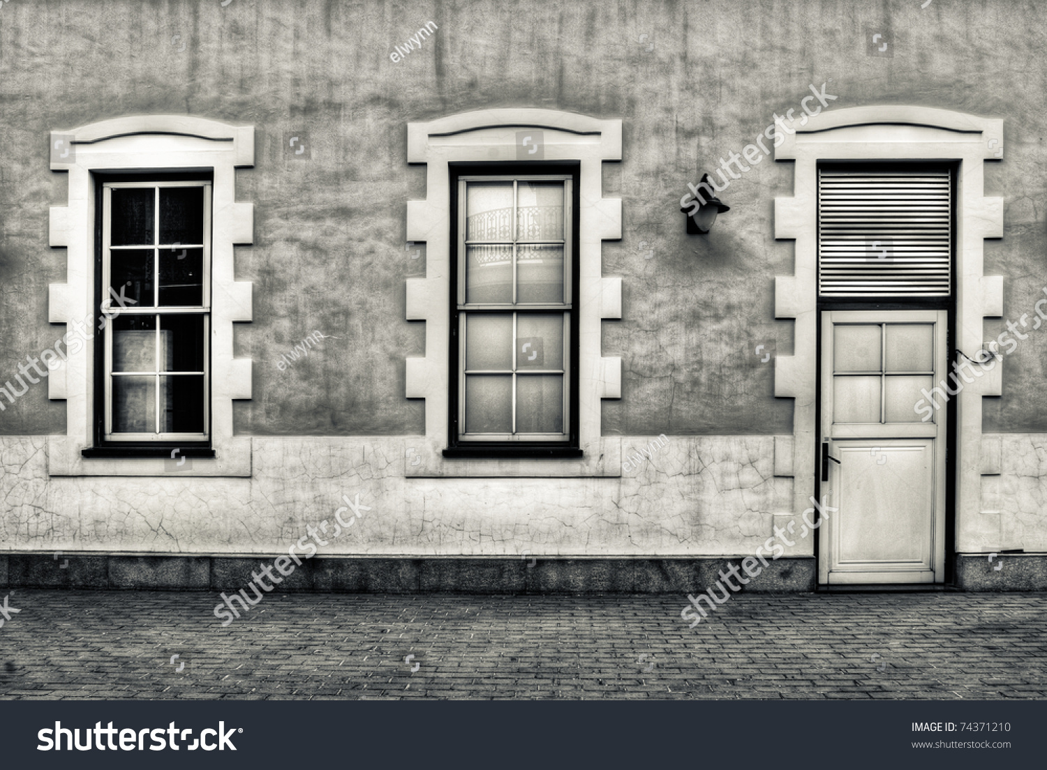 Background of house exterior with grunge style stock for Exterior background