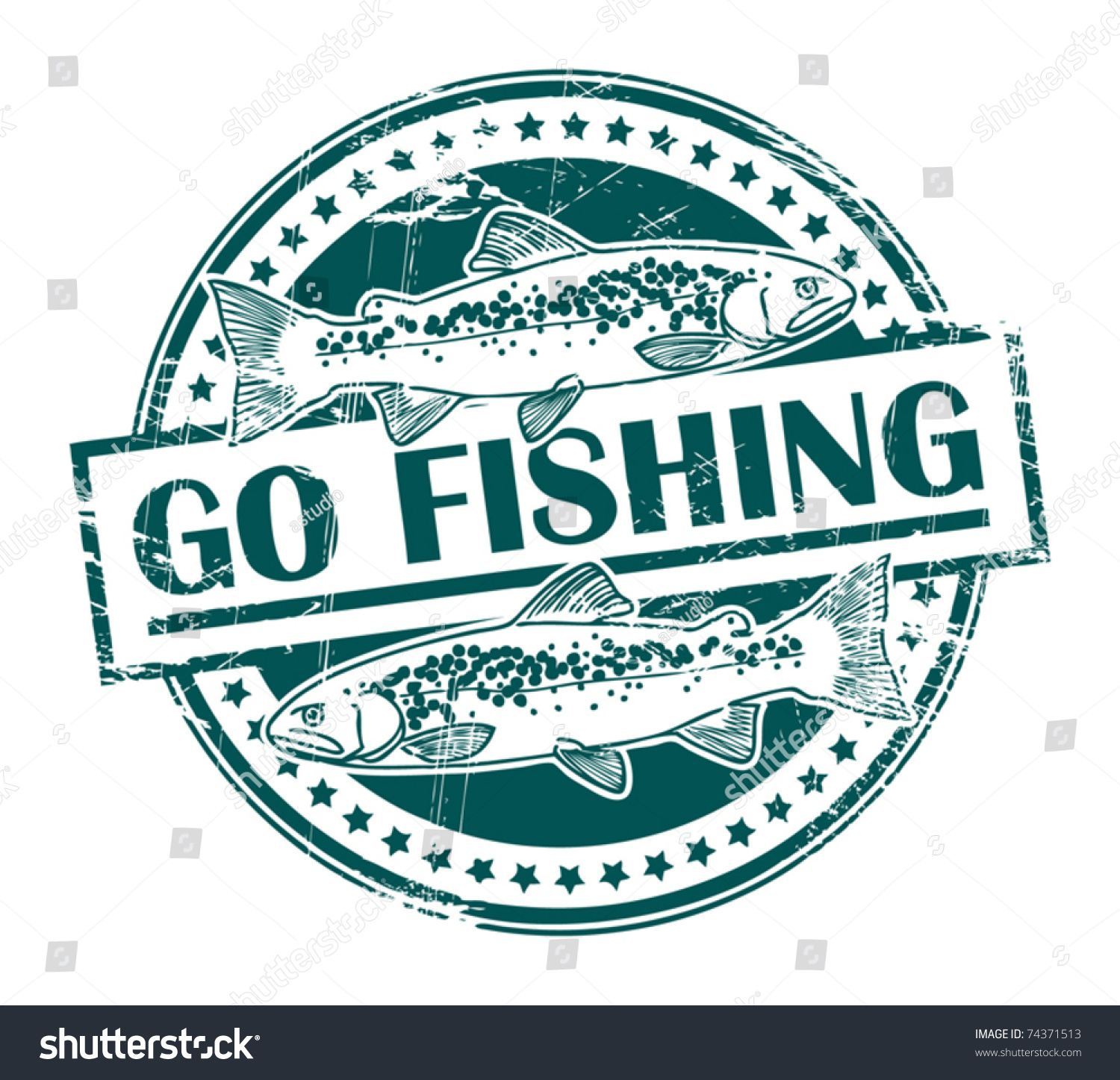 Grunge rubber stamp fish shape text stock vector 74371513 for Fish symboled stamp