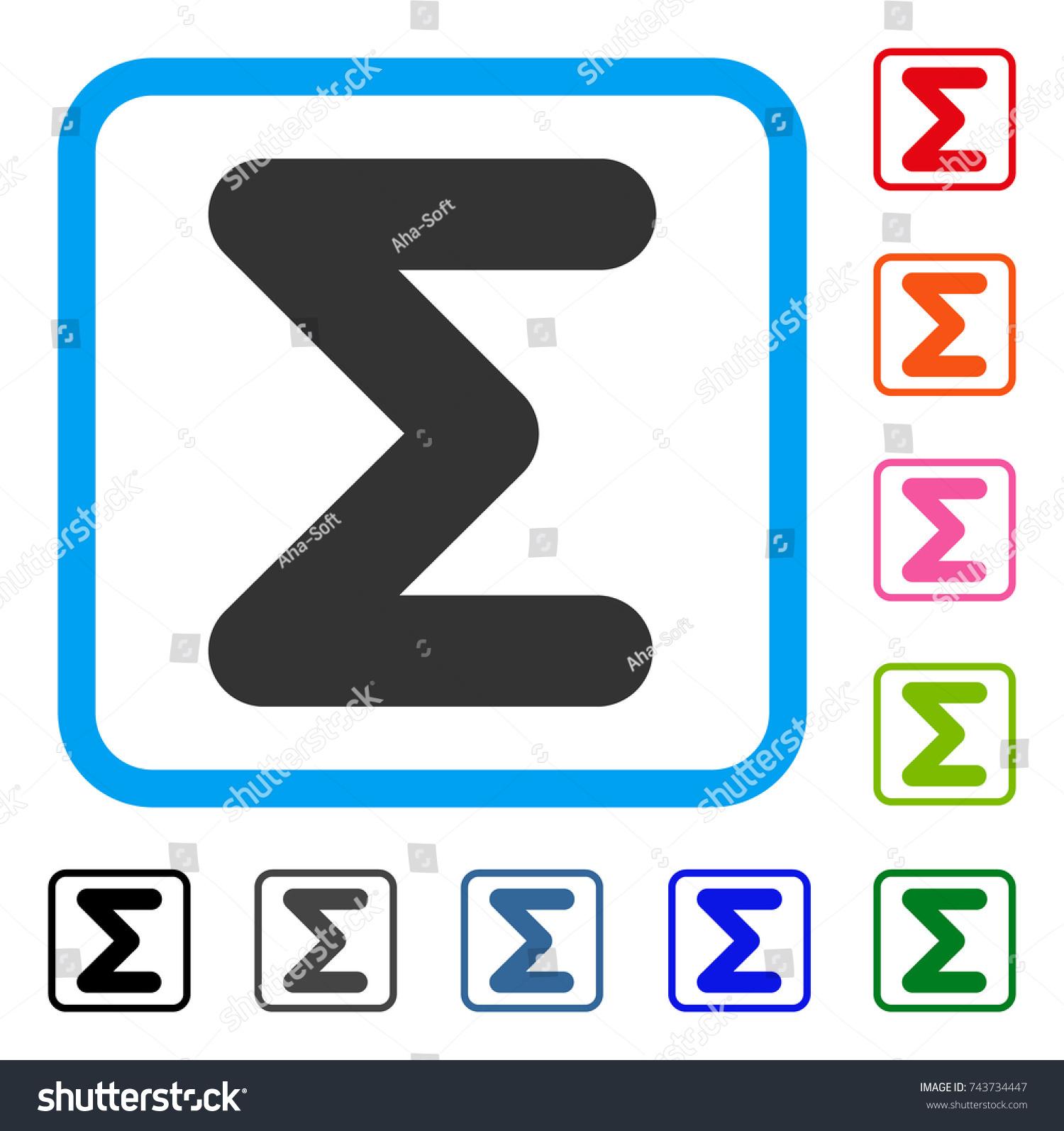 Sum Icon Flat Grey Iconic Symbol Stock Vector Royalty Free