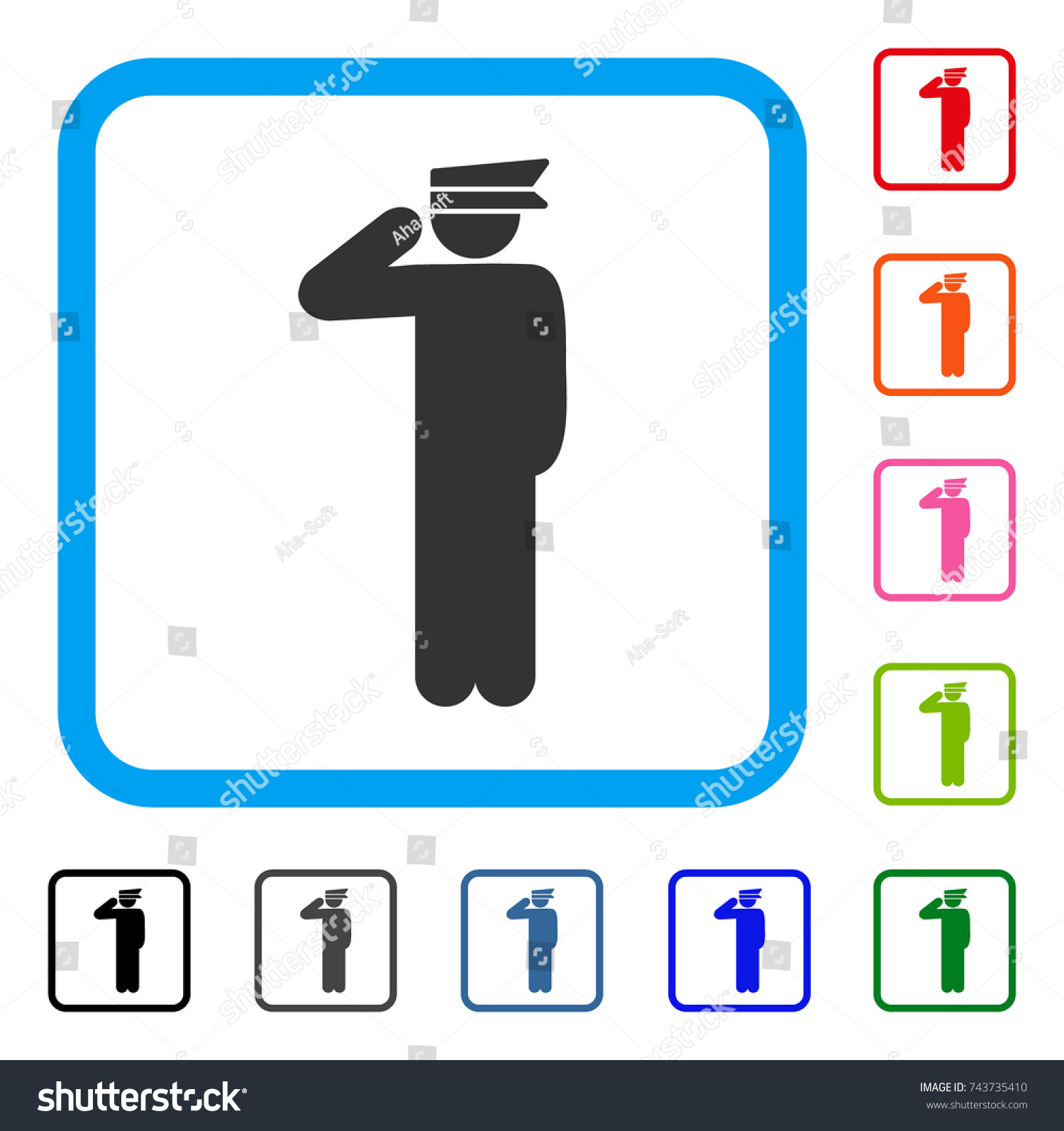 Police Officer Icon Flat Gray Pictogram Stock Vector (2018 ...