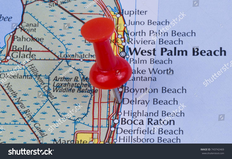 Delray Florida Map.Delray Beach Florida Palm Beach County Stock Photo Edit Now