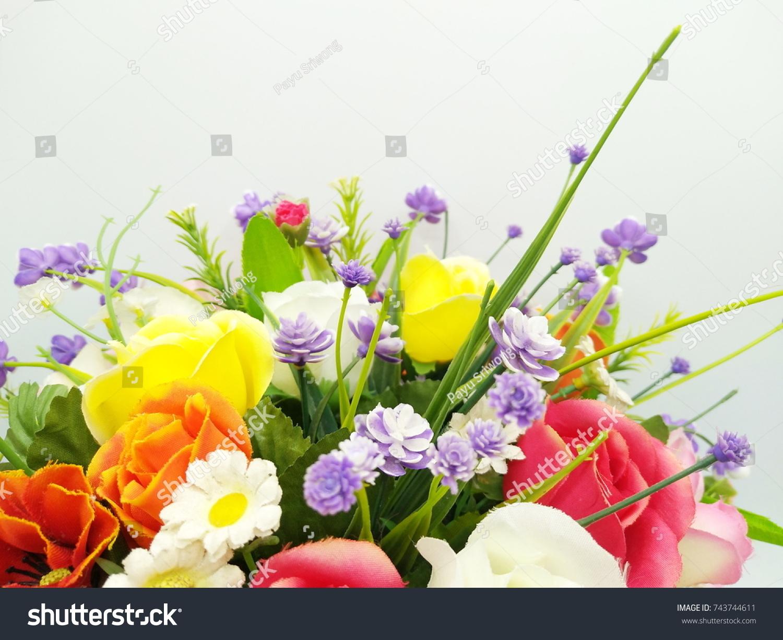 Beautiful Artificial Flower Shop Bouquet Artificial Stock Photo