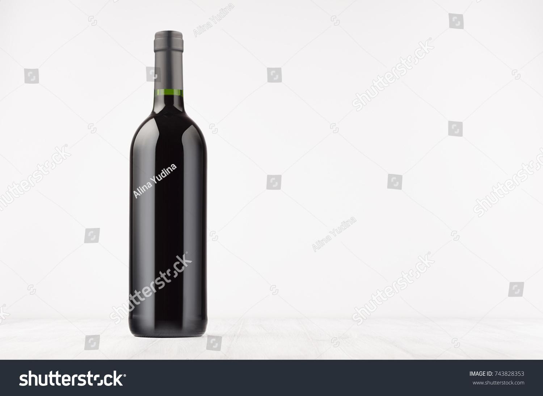 black wine bottle red wine on stock photo edit now 743828353