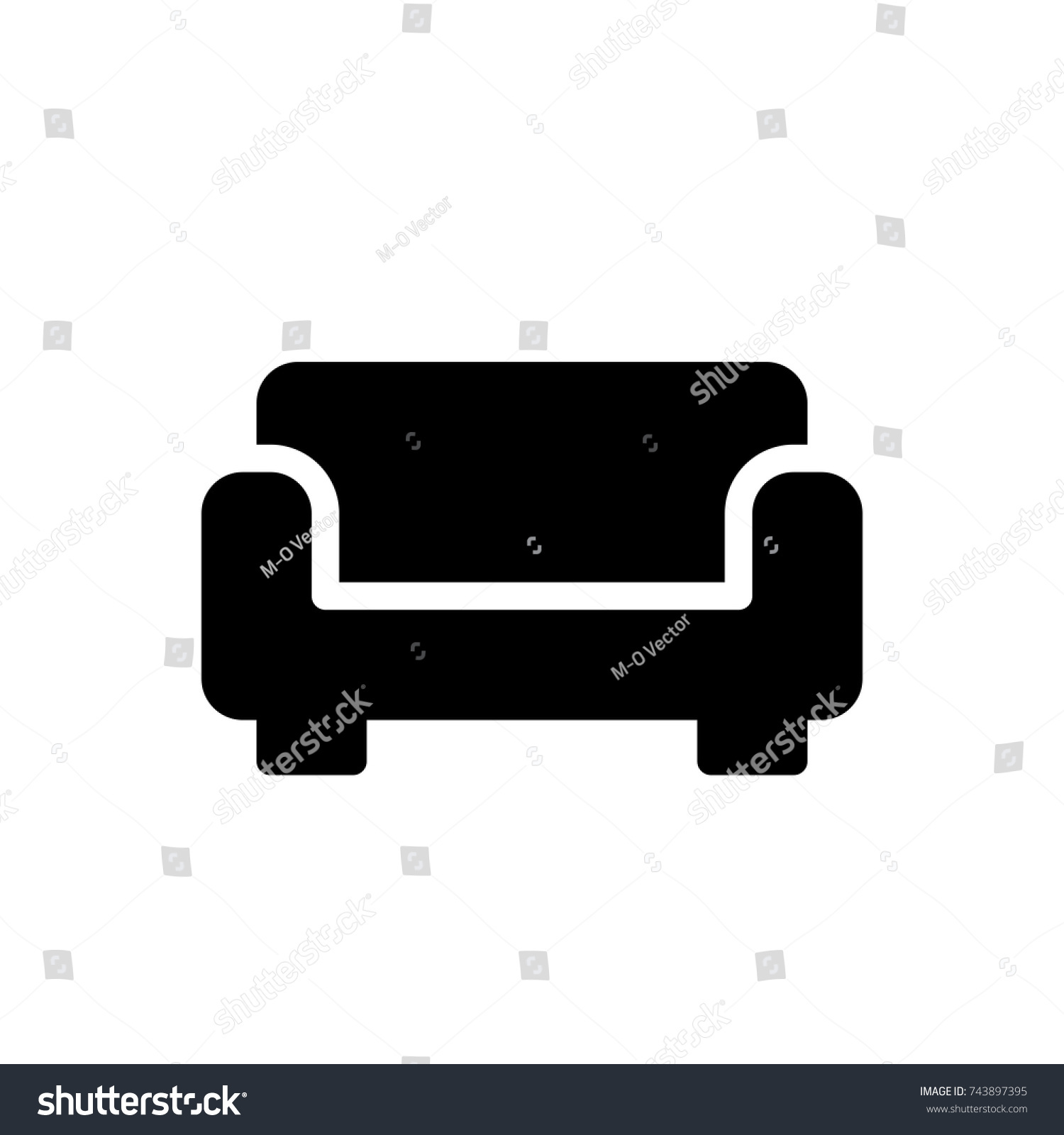 Sofa Icon Sofa Icon Vector Trendy Stock Vector Royalty Free