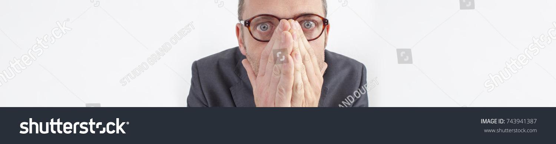 Scared Person Hiding