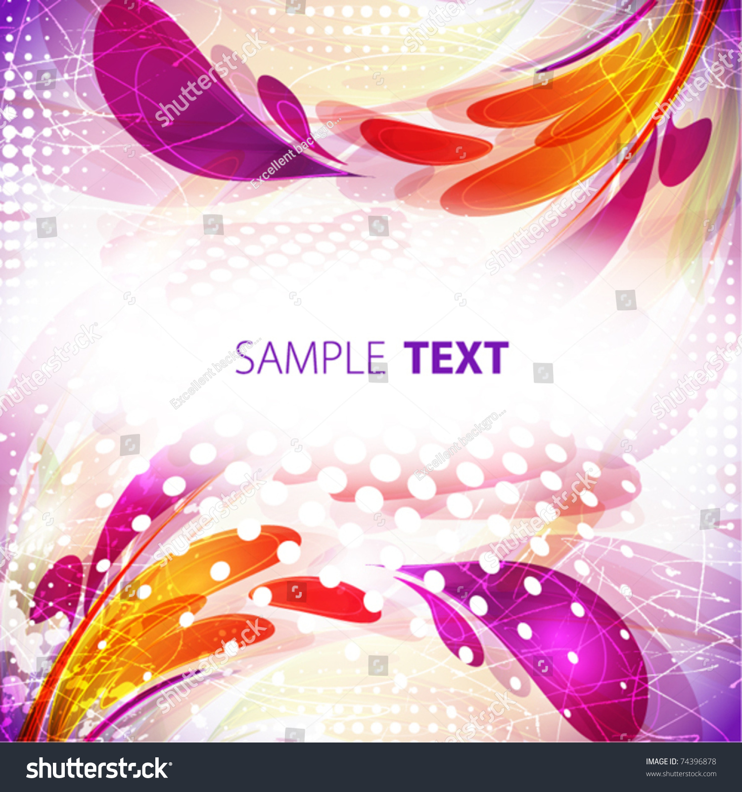 abstract color frame vector