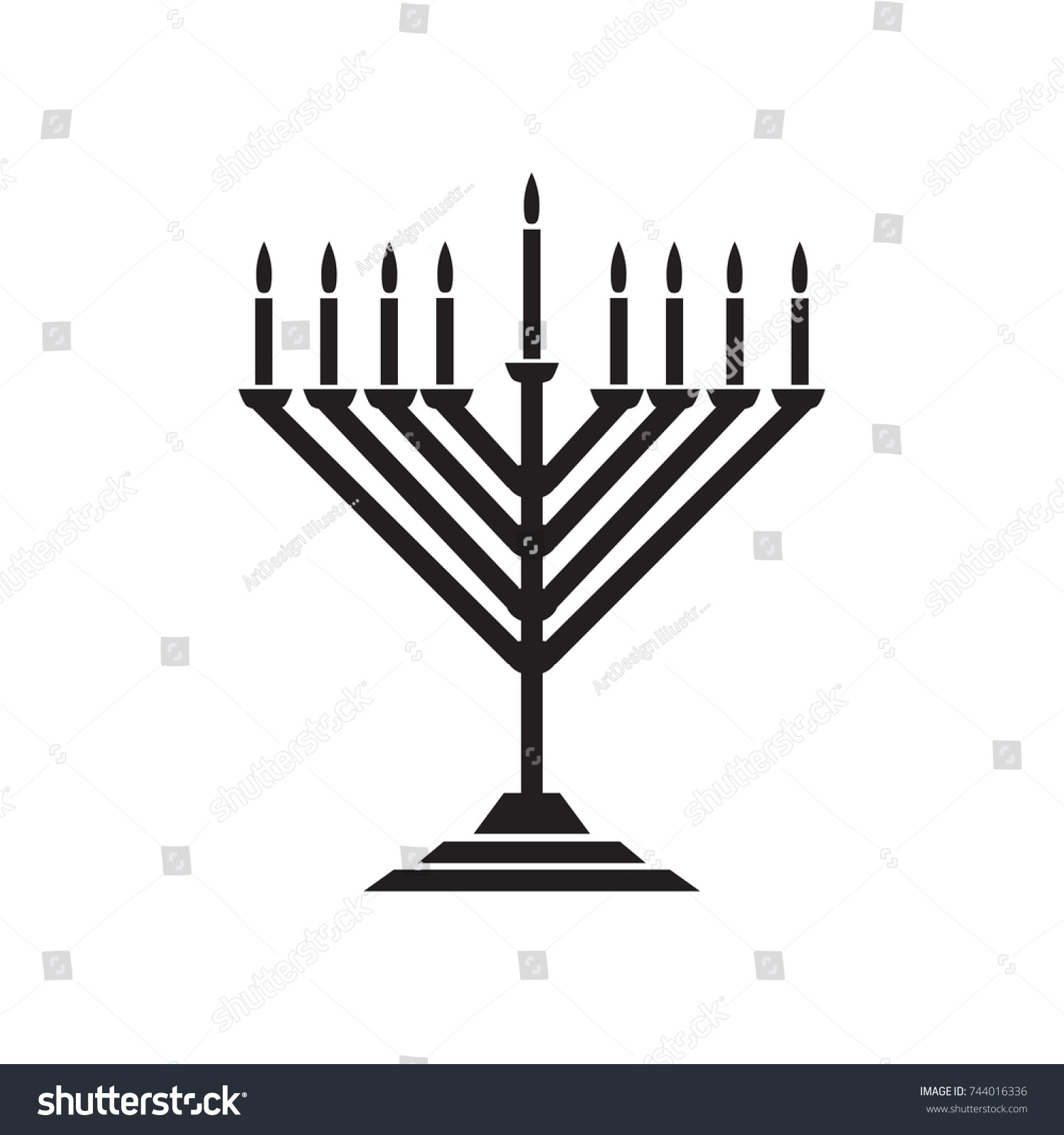 Menorah hanukkah icon jewish holiday symbol stock vector 744016336 menorah hanukkah icon jewish holiday symbol menorah light candelabra with candles silhouette isolated white biocorpaavc Image collections