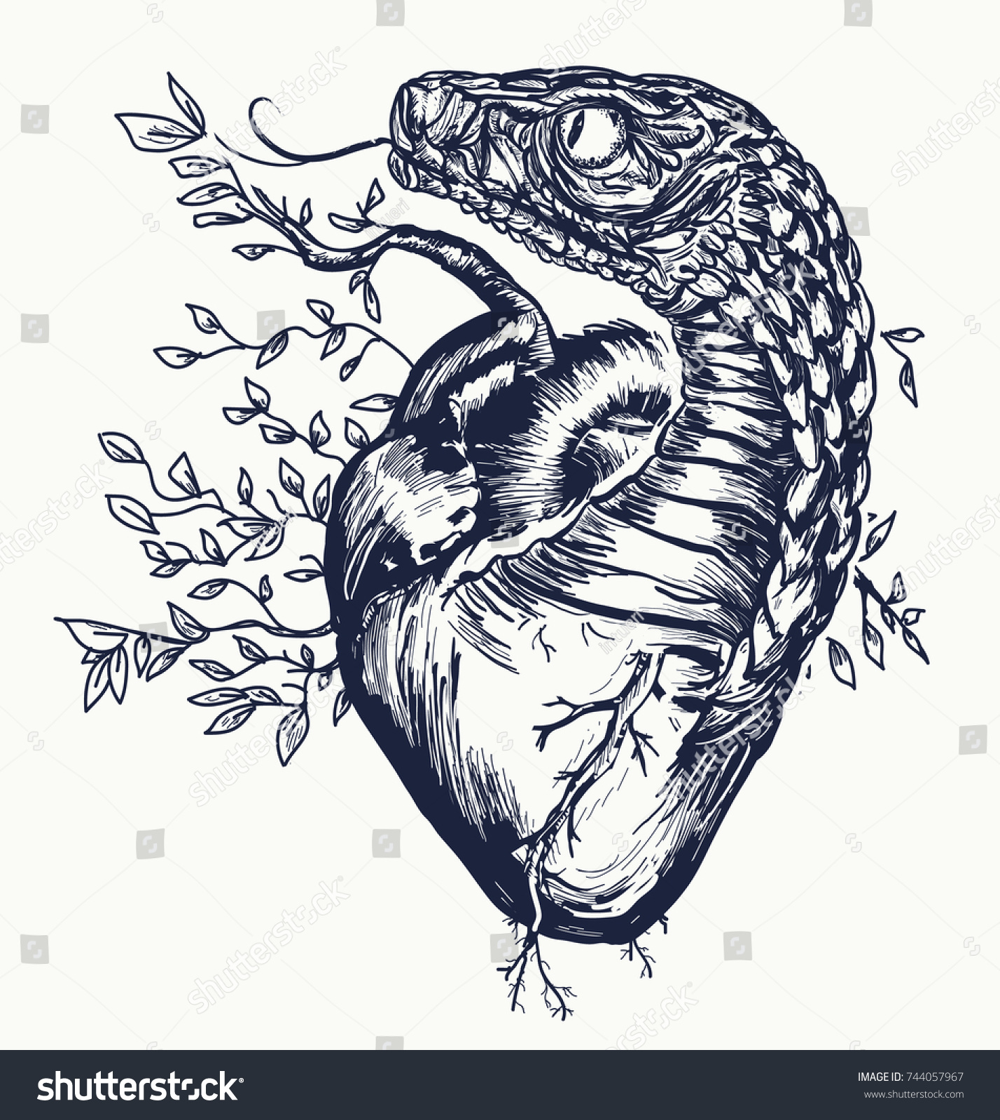 Success tattoo symbols images for tatouage success tattoo symbols inside snake heart tattoo symbol love envy stock vector 744057967 biocorpaavc Image collections