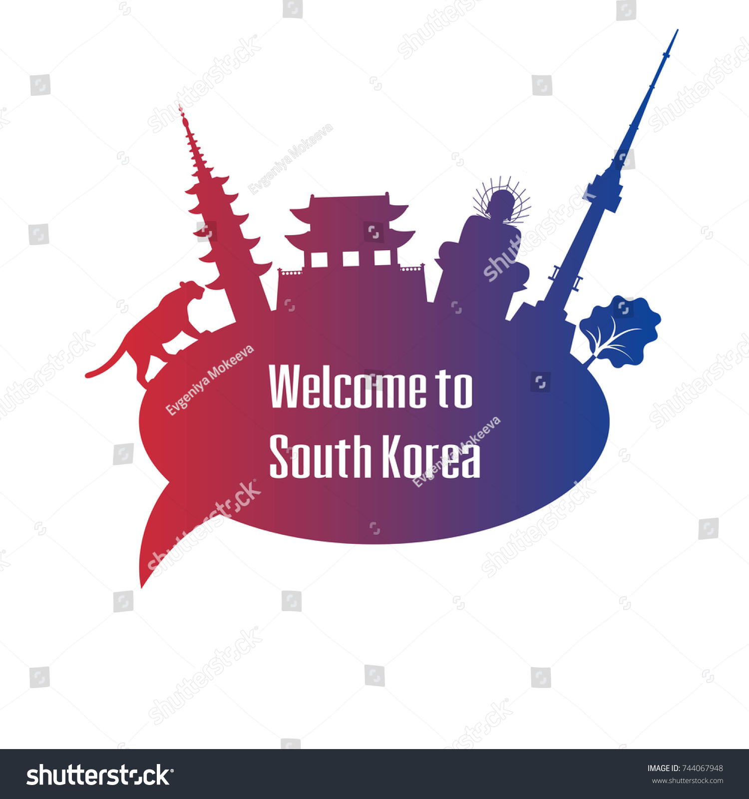 Welcome south korea poster symbols south stock vector 744067948 welcome to south korea poster with symbols of south korea vector illustration biocorpaavc Gallery